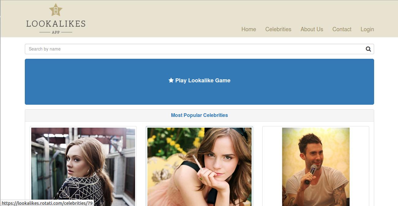 Lookalike homepage