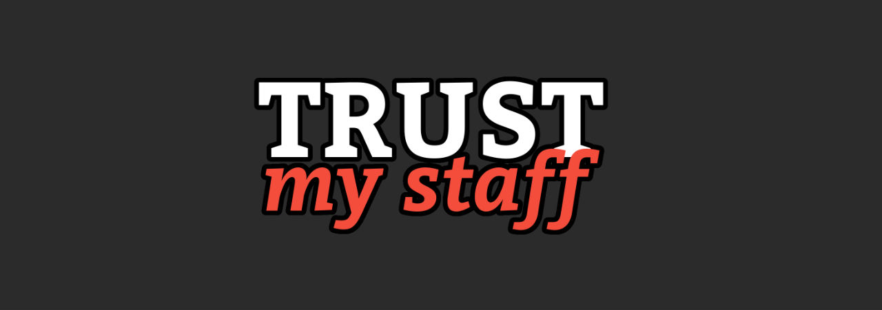 Trust my staff cover